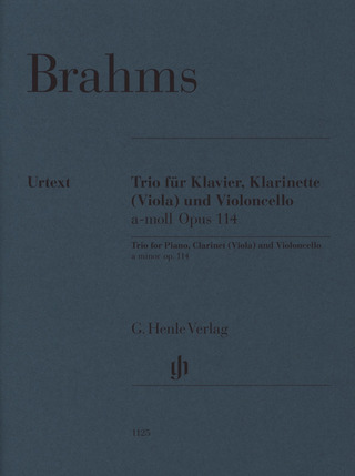 Johannes Brahms: Clarinet Trio a minor op. 114