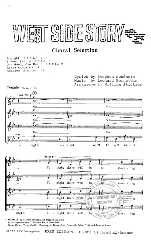 Leonard Bernstein: West Side Story – Choral Selections (1)