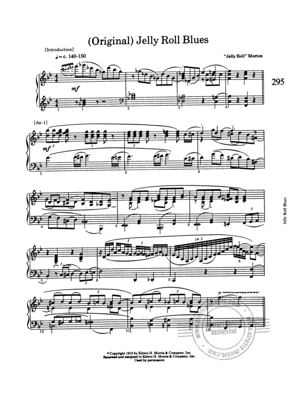 Morton Jelly Roll Collected Piano Music From Morton