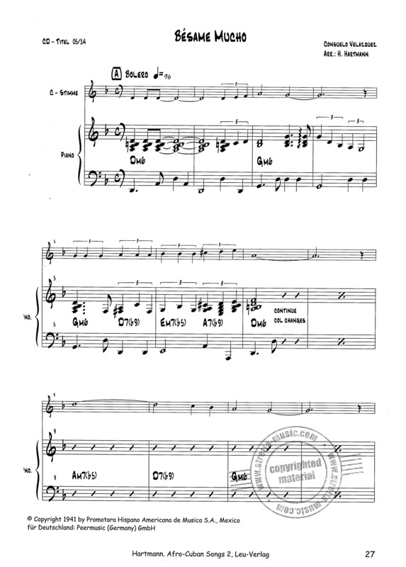Afro-Cuban Songs for Latin-Ensemble (4)