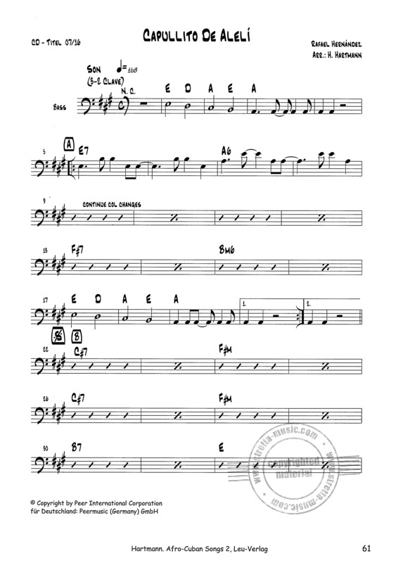 Afro-Cuban Songs for Latin-Ensemble (6)