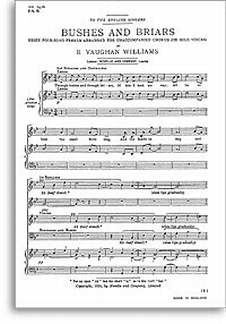 Ralph Vaughan Williams: Bushes And Briars (Satb) Chor