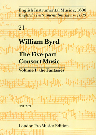 William Byrd: The Five Part Consort Music 1