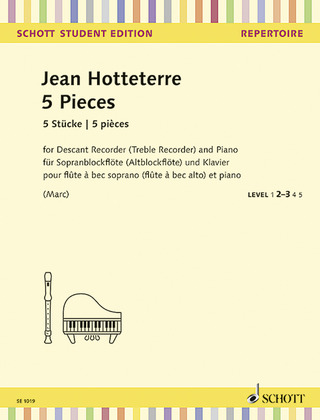 Jacques-Martin Hotteterre: 5 Stücke – Level 2-3