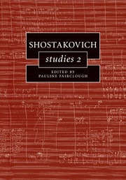 Pauline Fairclough: Shostakovich Studies 2