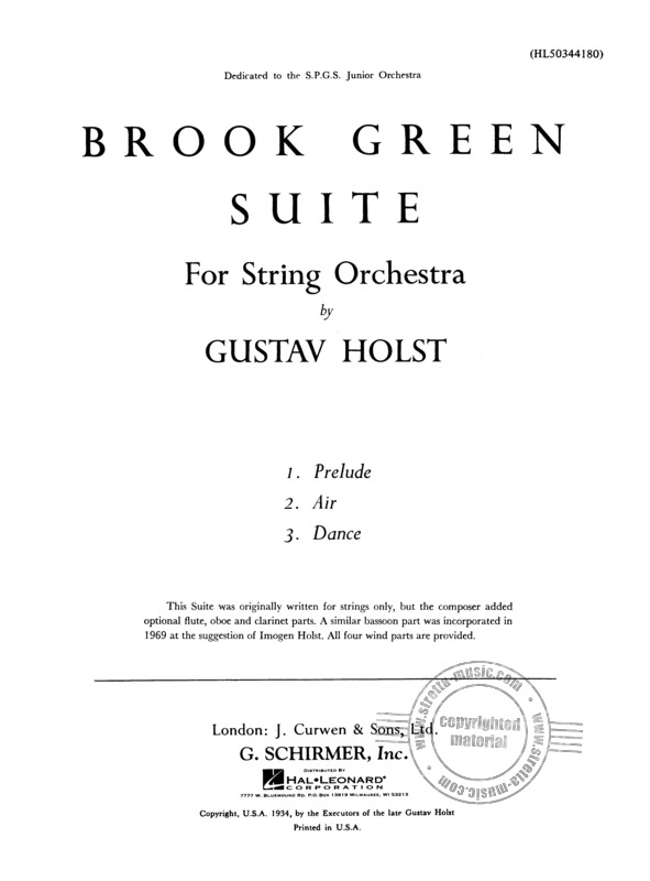 Gustav Holst: Brook Green Suite