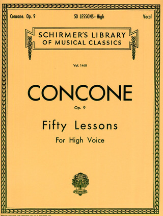 Giuseppe Concone: 50 Lessons for High Voice Op. 9