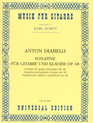 Anton Diabelli: Sonatine for guitar and piano op. 68