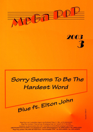 Blue + Elton John: Sorry Seems To Be The Hardest Word