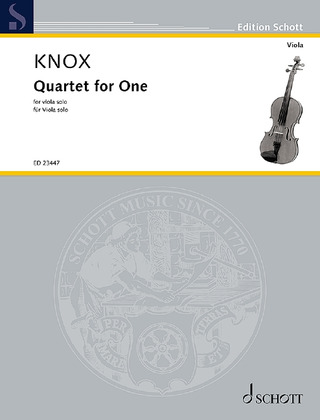 Garth Knox: Quartet for One