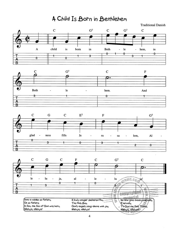 Easy Christmas Songs For Little Guitar Pickers Buy Now In Stretta Sheet Music Shop