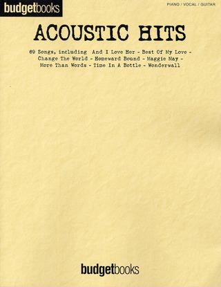 Budgetbooks: Acoustic Hits Pvg