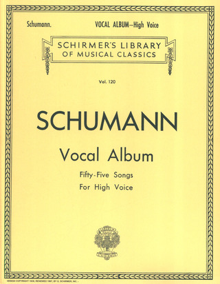 Robert Schumann: Schumann Vocal Album High Voice Ger/Eng (Lb120)