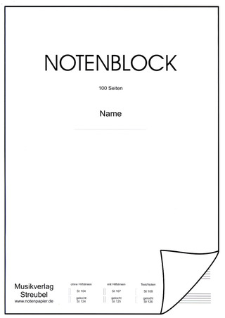 Notenblock A4 50 Blatt Text + Noten