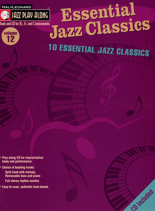 Jazz Play Along Volume 12 Essential Jazz Classics Bflat Inst Book / Cd