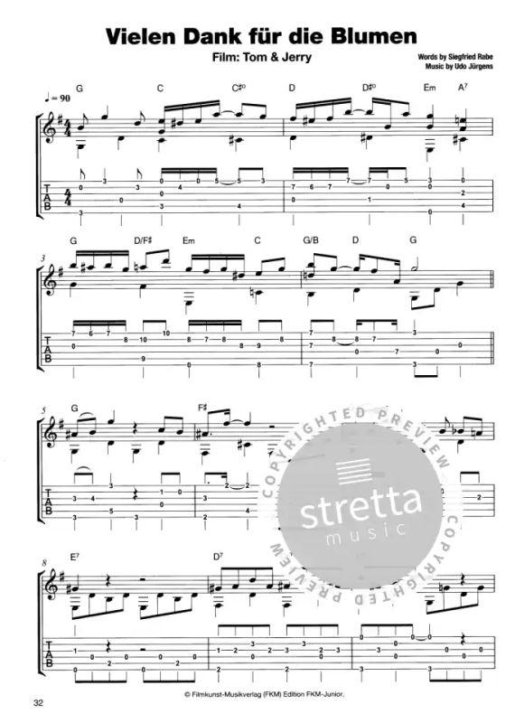 Welt gitarre der fabelhafte die amelie noten Comptine d'un