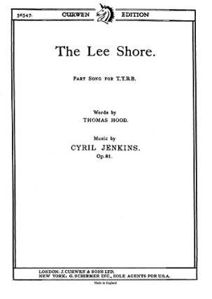 Jenkins Cyril: The Lee Shore Ttbb/Piano Chor