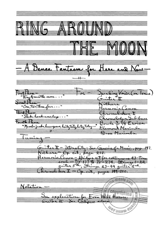 Harry Partch: Ring Around the Moon (1)