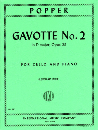 David Popper: Gavotte No. 2 D Major op. 23