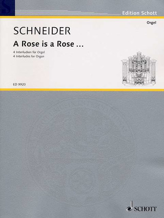 Enjott Schneider: A Rose is a Rose (2002)