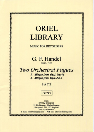 George Frideric Handel: 2 Orchestral Fugues