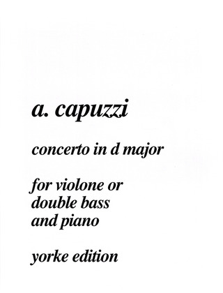 Antonio Capuzzi: Concerto in D Major