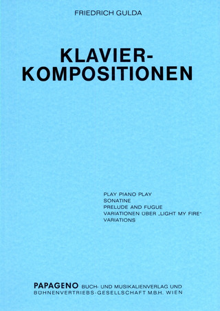 Friedrich Gulda: Klavier-Kompositionen