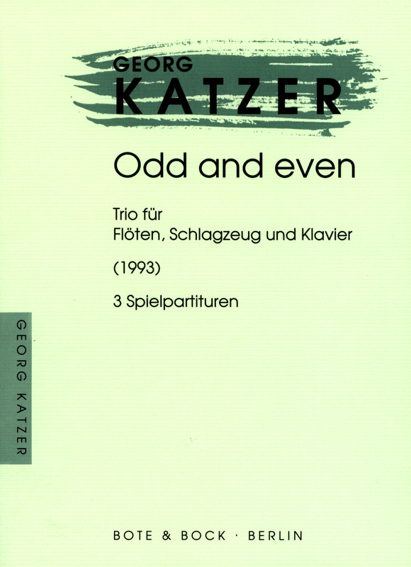 Georg Katzer: Odd and even (1993)