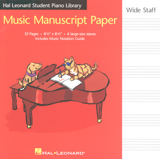 Music Manuscript Paper Wide Staff