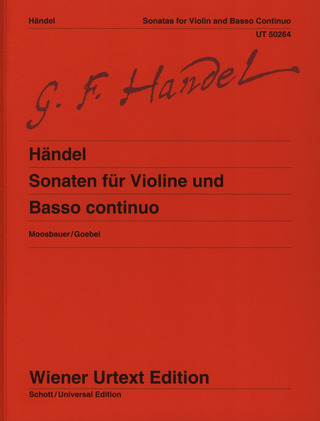 George Frideric Handel: Sonatas for Violin and Basso continuo