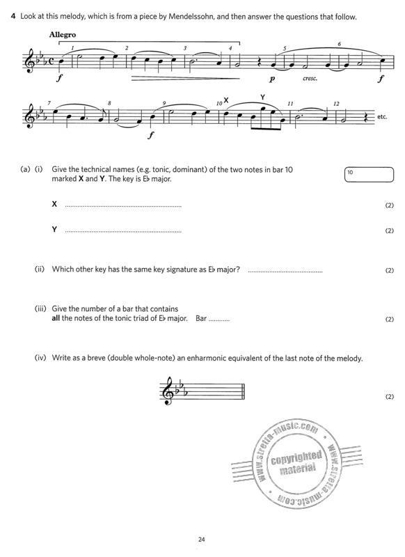 Music Theory Practice Papers 2018 Grade 4 from ABRSM | buy