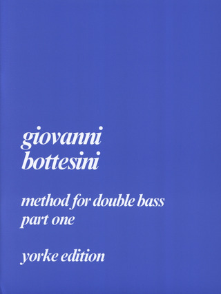 Giovanni Bottesini: Method 1 For Double Bass