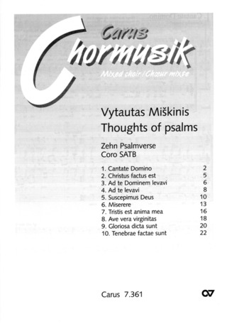 Miskinis Vytautas: Miskinis: Psalmverse. Thoughts of Psalms
