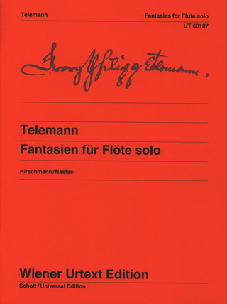 Georg Philipp Telemann: Fantasies for Flute solo