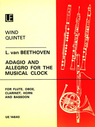Ludwig van Beethoven: Adagio and Allegro for the Musical Clock für Bläserquintett