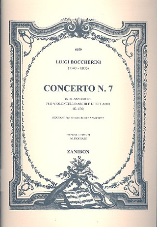 Luigi Boccherini: Concerto N. 7 In Re (Pais)