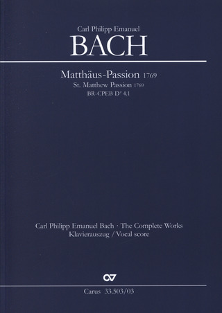 Carl Philipp Emanuel Bach: Matthäuspassion