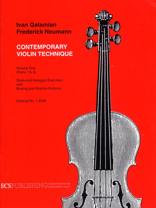 Ivan Galamian: Contemporary Violin Technique 1