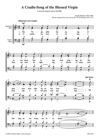 Joseph Barnby: A Cradle-Song of the Blessed Virgin