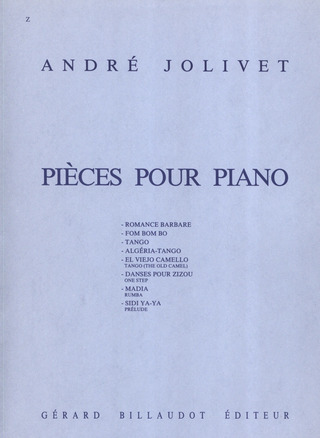 André Jolivet: Pieces Pour Piano