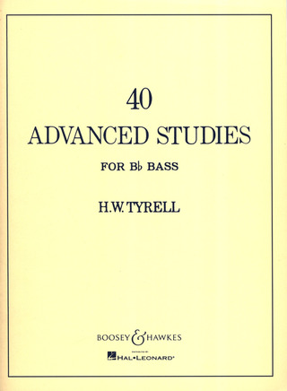 H. Warwick Tyrell: 40 Advanced Studies for Bb Bass