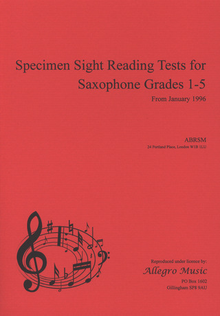 Specimen Sight Reading Tests 1-5