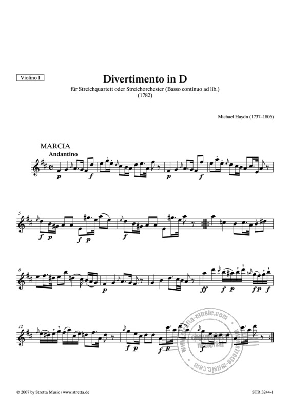 Michael Haydn: Divertimento in D (3)