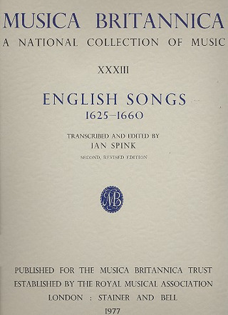English Songs 1625-1660