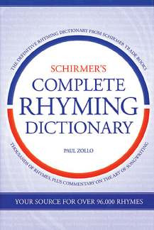 Zollo Paul: Schirmer's Complete Rhyming Dictionary