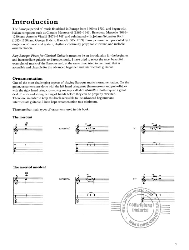 Easy Baroque Pieces For Classical Guitar | buy now in