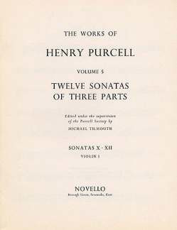 Henry Purcell: 12 Sonatas Of 3 Parts 10 11 12