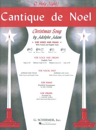 Adolphe Adam: Adam, A Cantique De Noel Med High Voice/Pf In D Flat (Deiss)