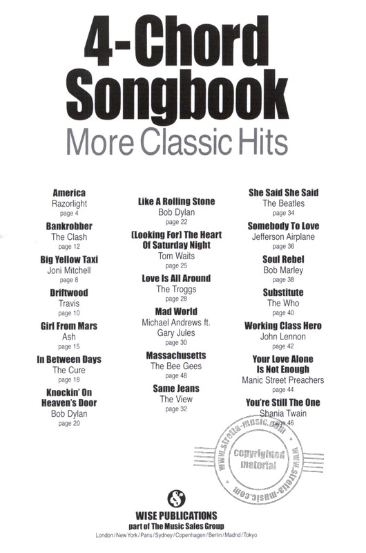4 Chord Songbook More Classic Hits Gtr Buy Now In Stretta Sheet