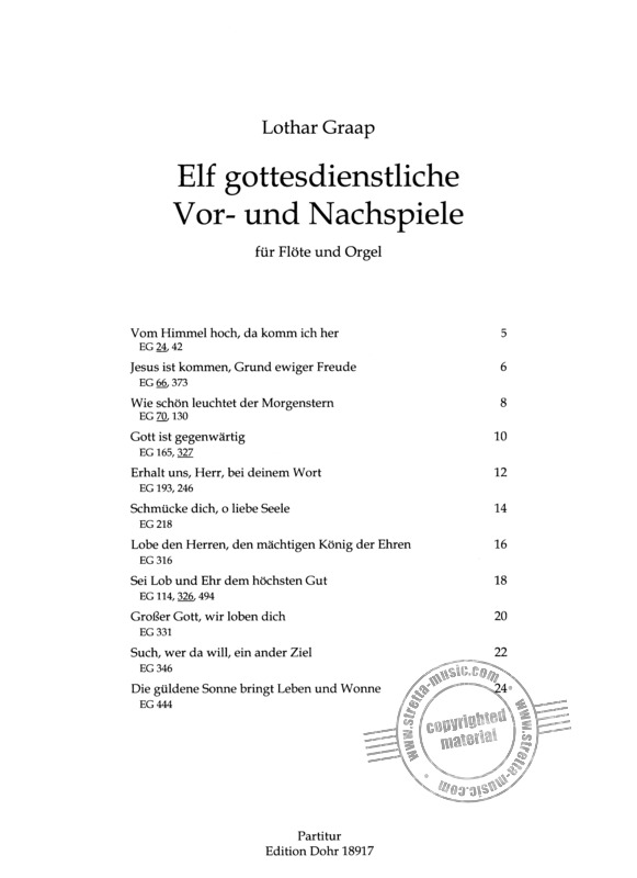 Lothar Graap: 11 Pre- and Postludes for Worship Practice (1)